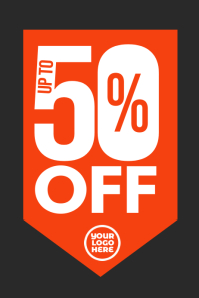 50% off sale retail clearance store poster template