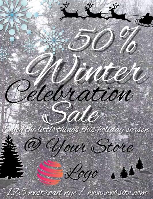 50 % winter celebration sale template