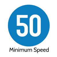 50 Minimum Speed Limit Road Sign Квадрат (1 : 1) template