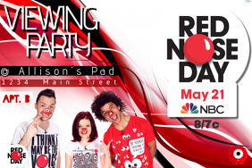 Red Nose Day Charity Television Viewing Party Fundraising Donate Event Cause Comedic Funny Spring