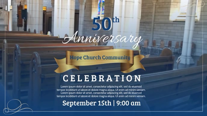 50th Anniversay Church Celebration Video Template