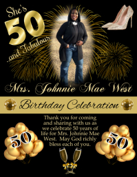 50th Birthday Volante (Carta US) template