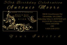 50th Birthday Invite