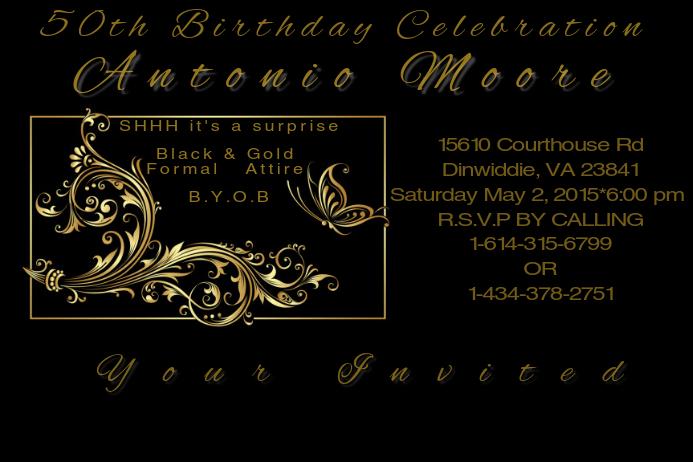 50th Birthday Invite Template