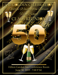 50th Celebration Flyer (US Letter) template