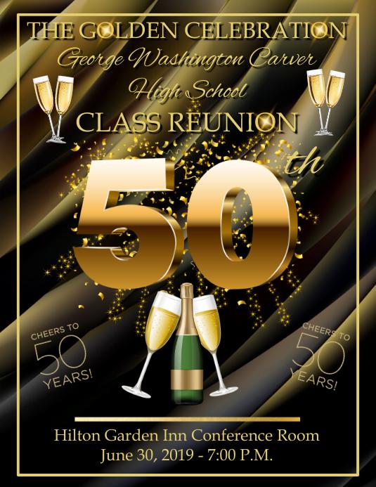 50th Celebration Pamflet (Letter AS) template