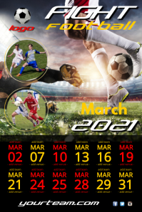 football team poster template