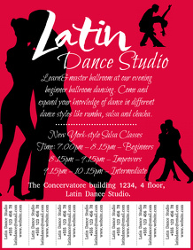 Salsa Dance Classes Template with Tabs