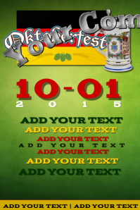 Oktoberfest Green Vintage German American Holiday Event Iphosta template