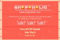 V Day Sale Poster/Flyer