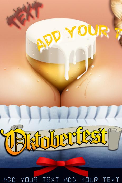 oktoberfest beer girl festival alcohol event flyer