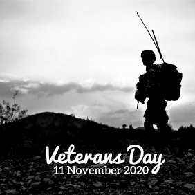 54 Veterans Day Instagram Post template
