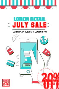 Retail sale poster - White background