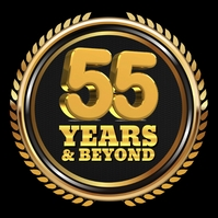 55 Years Logo template