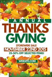 Thanskgiving Sale