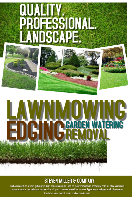 Lawnmowing Poster template