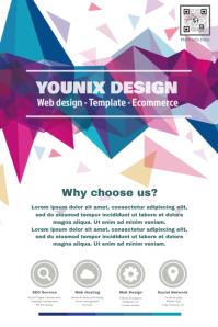 Promotion flyer for web design agency
