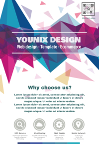 Promotion flyer for web design agency