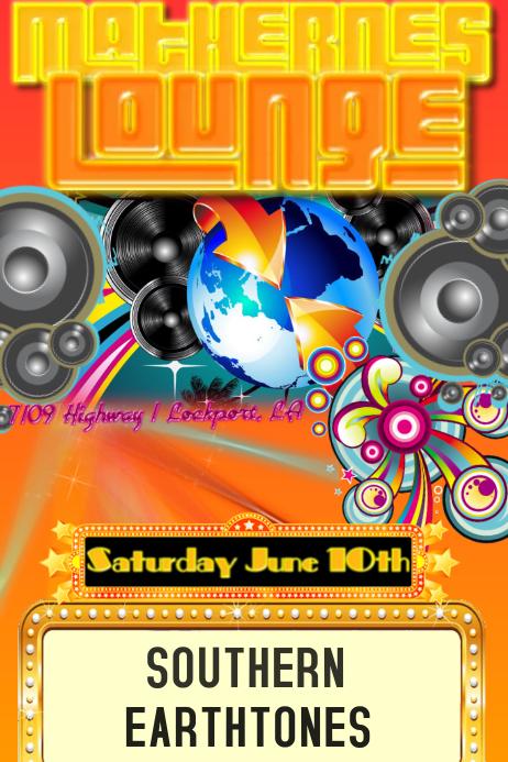 Band Bar Concert Venue Club Summer Night DJ Music Event Flyer