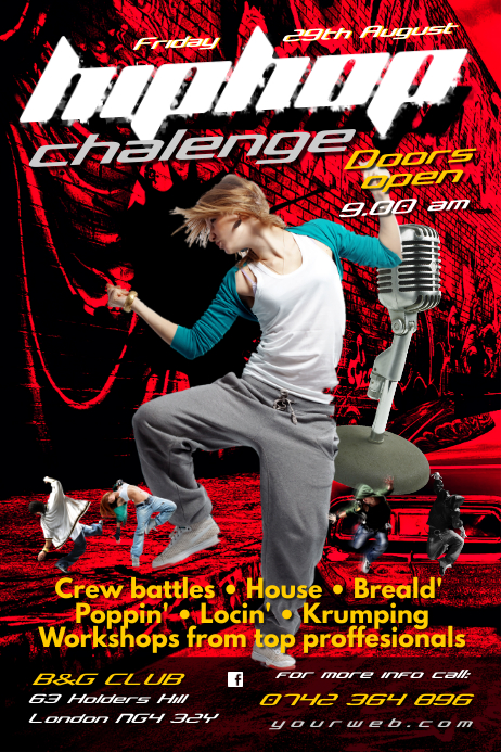 Hip Hop Challenge Flyer