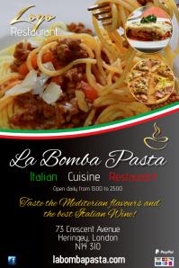 La Bomba Pasta Flyer