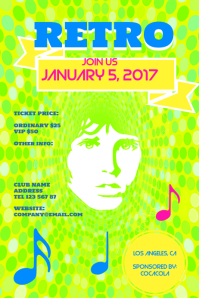 Retro Psychedelic Concert Template