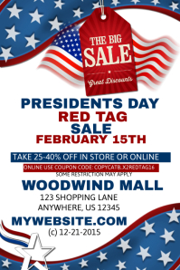 President Day Red Tag Sales Event Template