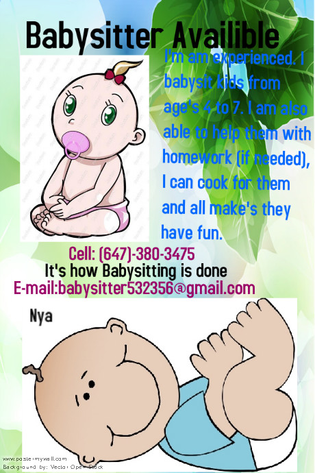 how to make a babysitting poster