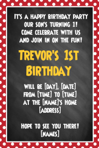 Disney Cartoon Birthday Party Invitation Announcement