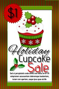 holiday bake sale/ cupcakes