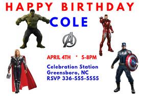 Avengers Birthday Invitation 2