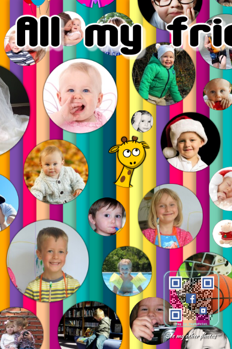 Kids photo collage