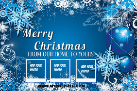 Christmas Collage Card Template