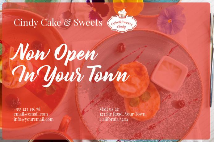 Dessert Restaurant Postcard Template