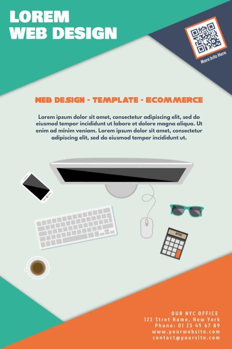 Web agency marketing flyers