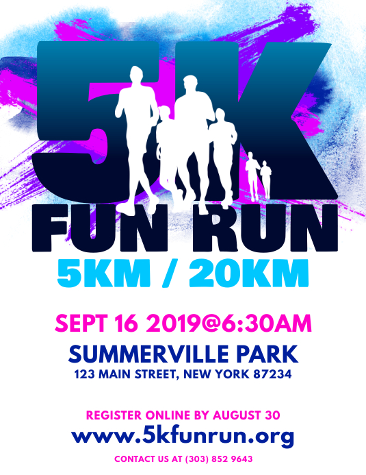 5k Fun Run Flyer Template Postermywall