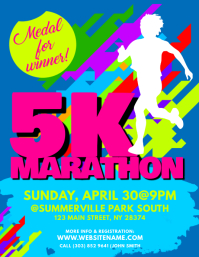 5K Marathon Flyer