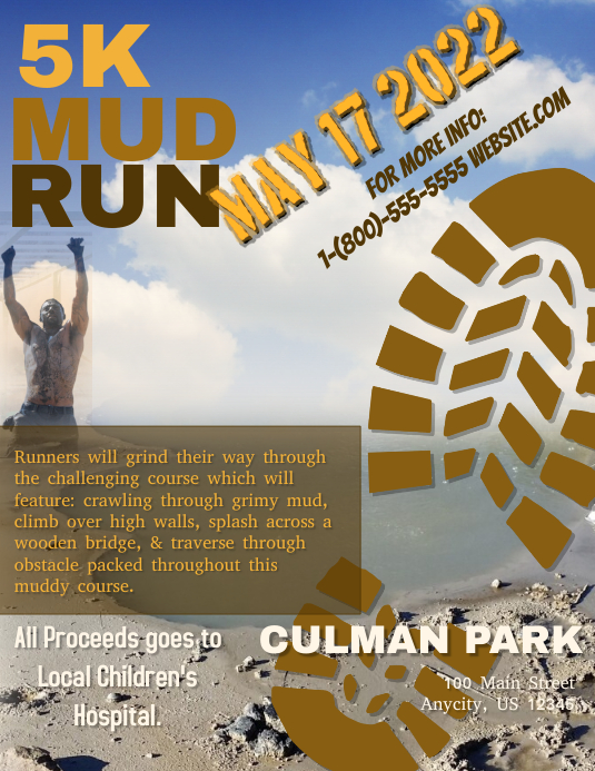 5k Mud Run Template Postermywall