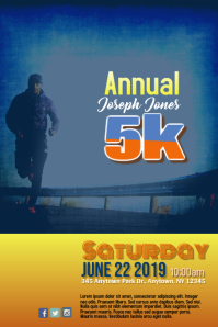 5K Race Fundraiser Benefit Flyer Template