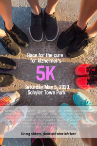 5k Race Run Benefit Fundraiser Walk Flyer