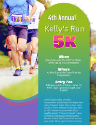 5k Race Run Walk Flyer