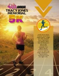 5k Race Run Walk Flyer