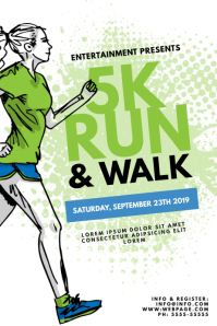 5K Run & Walk Color run Flyer Template