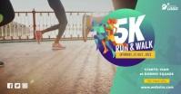 5K Run & Walk Event Facebook Shared Image template