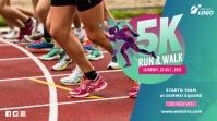 5K Run & Walk Event Twitter Post template