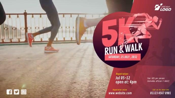 5K Run & Walk Event Pos Twitter template