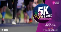 5K Run & Walk Event Facebook begivenhed cover template