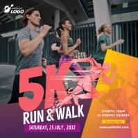 5K Run & Walk Event Publicación de Instagram template
