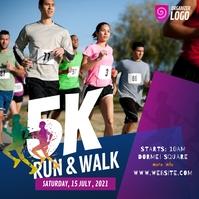 5K Run & Walk Event Instagram Post template