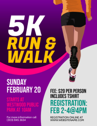 5K Run & Walk Flyer
